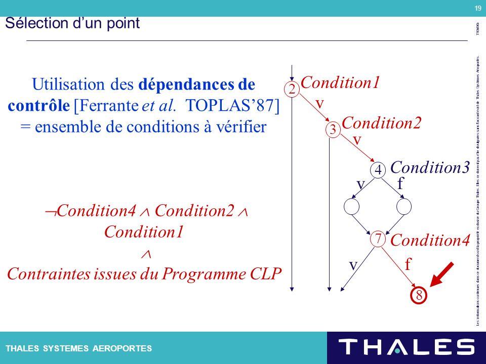 Utilisation des dépendances de contrôle [Ferrante et al. TOPLAS'87]
